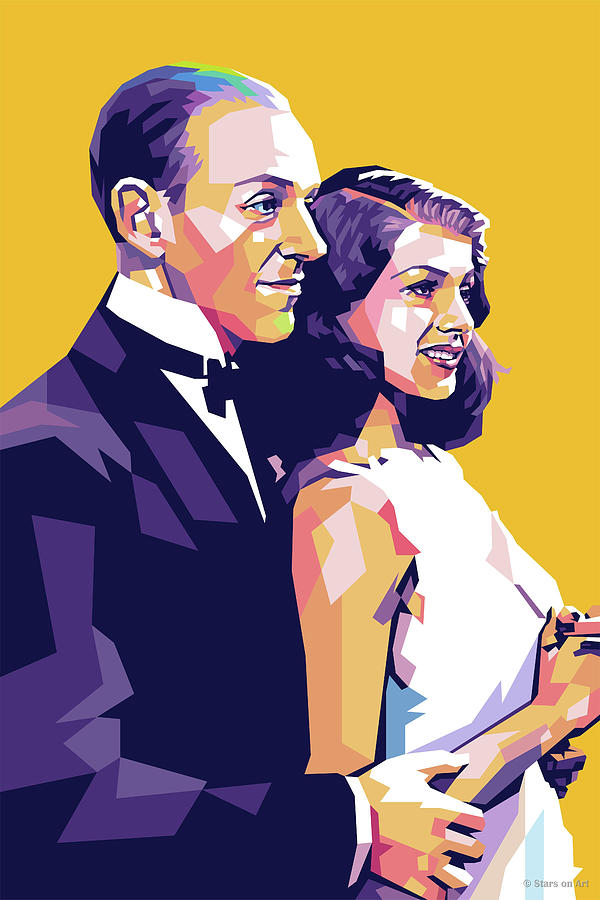 Fred Astaire And Rita Hayworth Digital Art