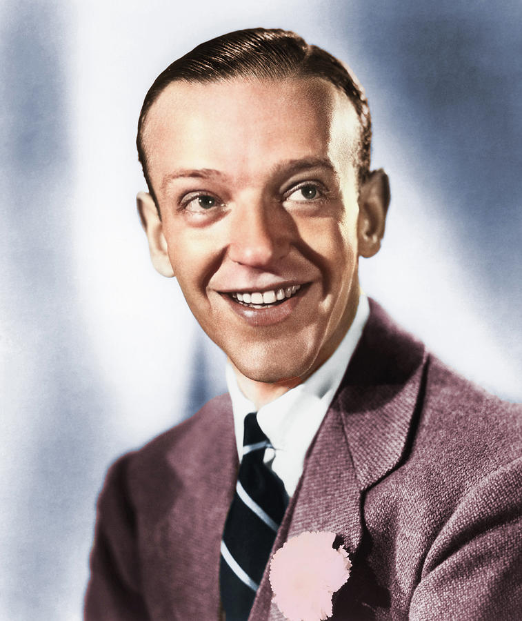 Fred Astaire Colorized Photograph