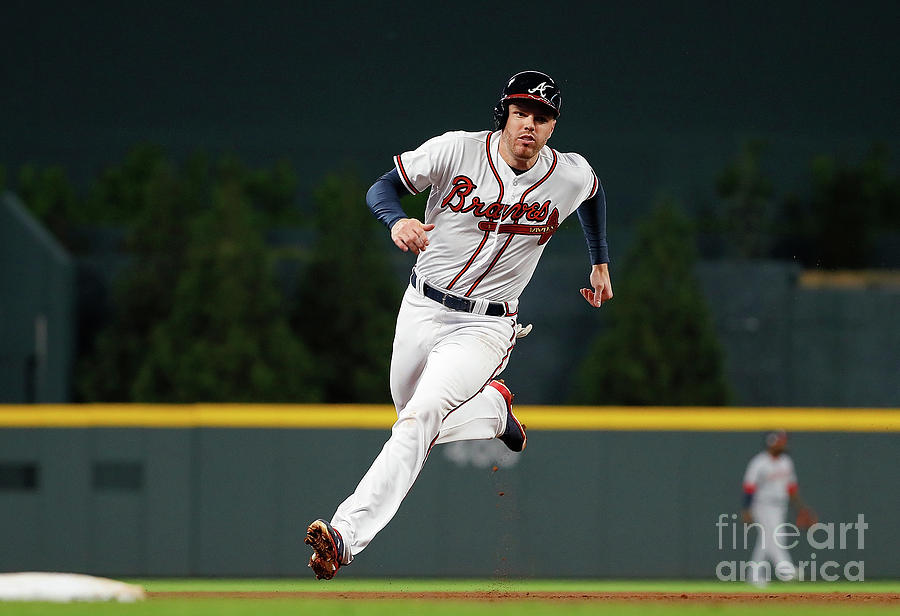 Freddie Freeman and Nick Markakis Photograph by Kevin C. Cox