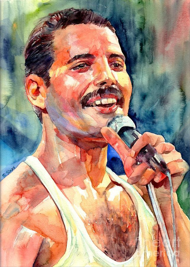 Freddie Mercury Painting - Freddie Mercury Live Aid by Suzann Sines