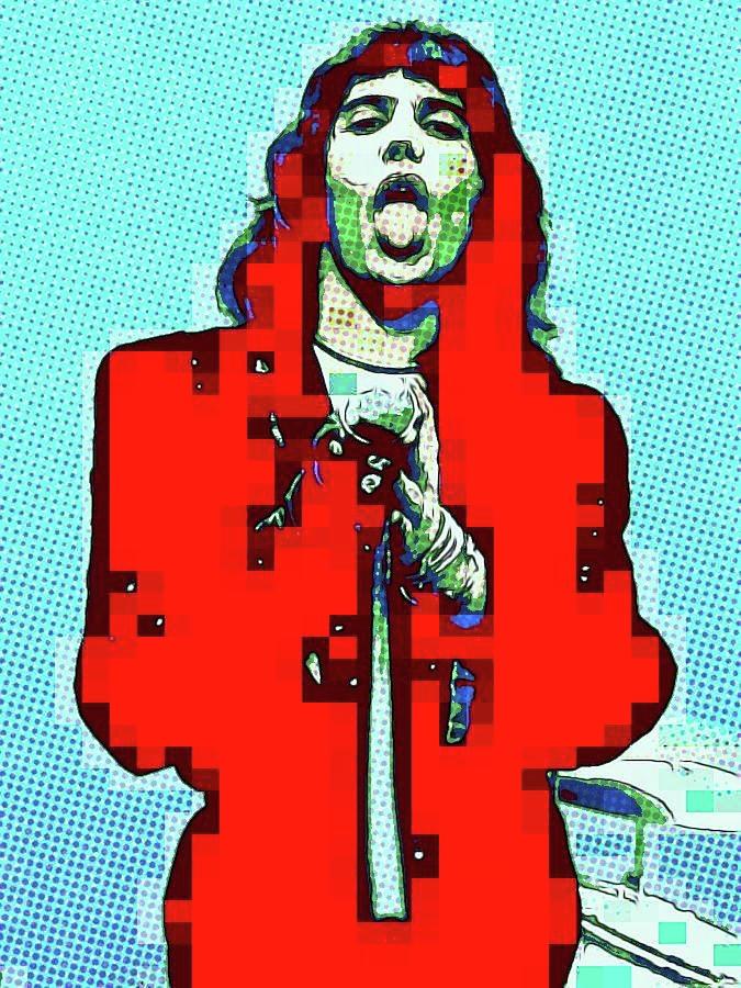 Freddie Mercury RED by Jayime Jean