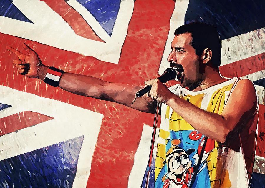 Queen Digital Art - Freddie Mercury by Zapista OU