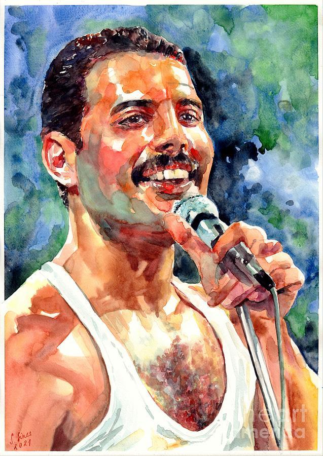 Freddie Painting - Freddy Mercury Portrait by Suzann Sines