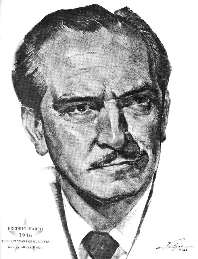 Fredric March By Volpe Drawing