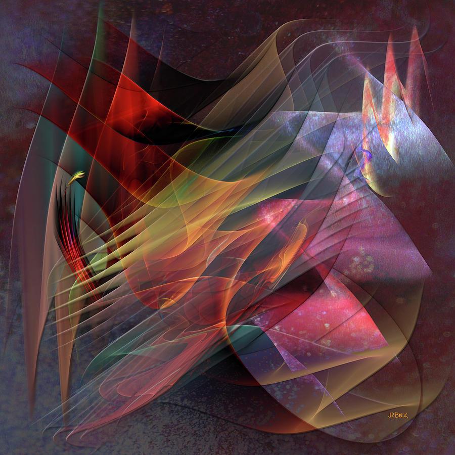 Free Falling Digital Art - Free Falling, Part 2 - Square Version by John Robert Beck
