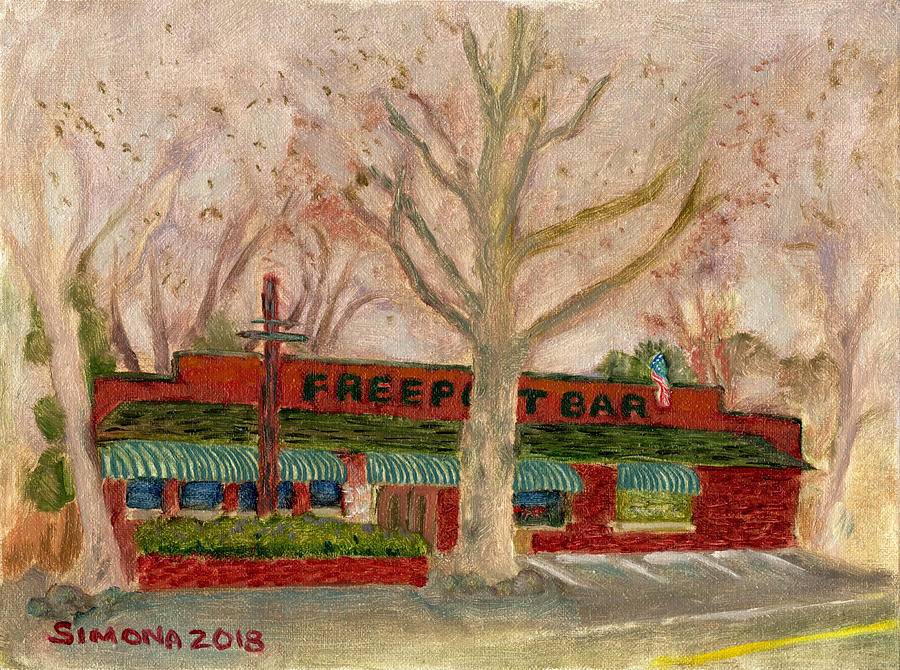 Freeport Painting - Freeport Bar and Grill by Simona Hernandez