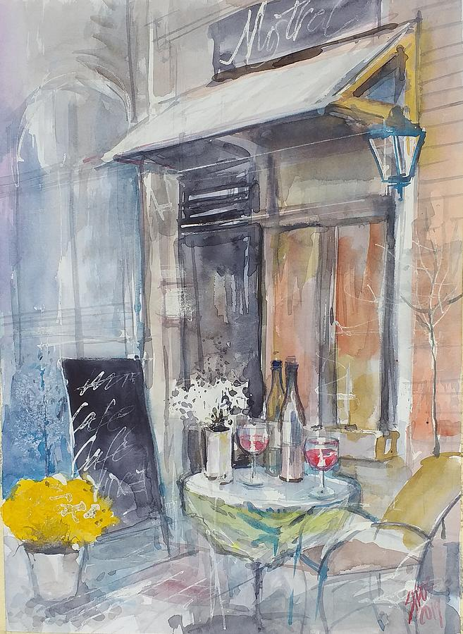 French Cafe Painting