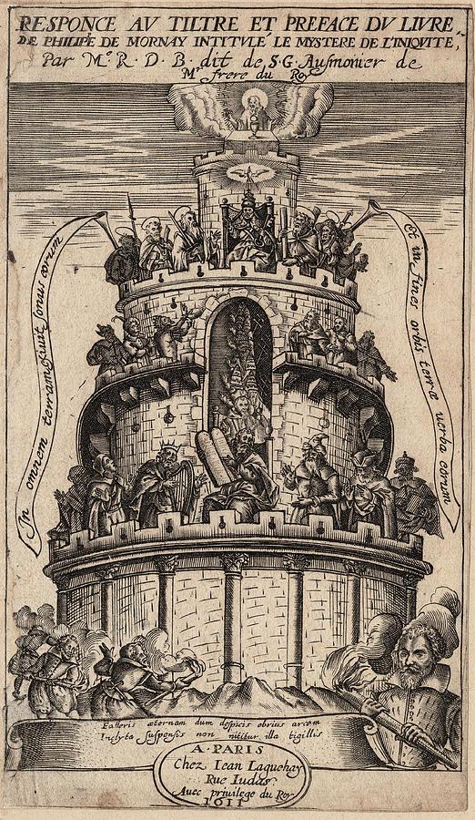 Huguenots Digital Art - French Huguenot History - Critique of Philippe de Mornay by Antique Images