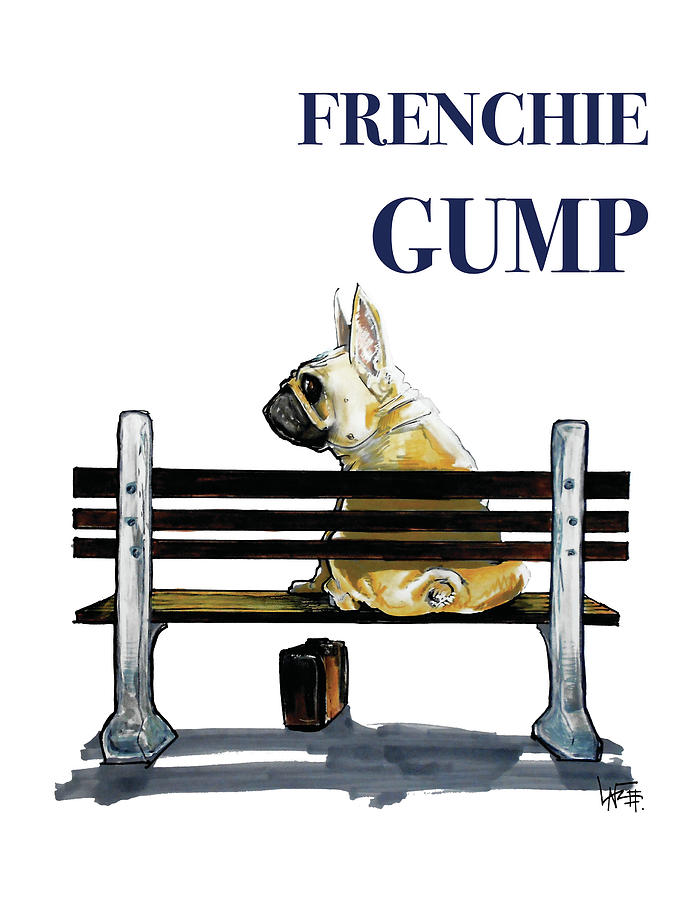 Frenchie Gump Drawing