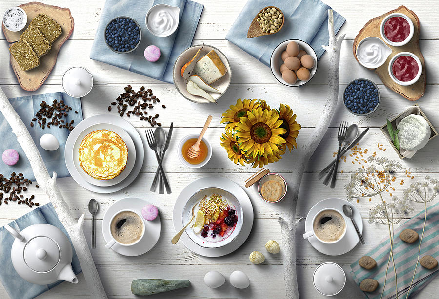 Fresh And Delicious Summer Breakfast Photograph