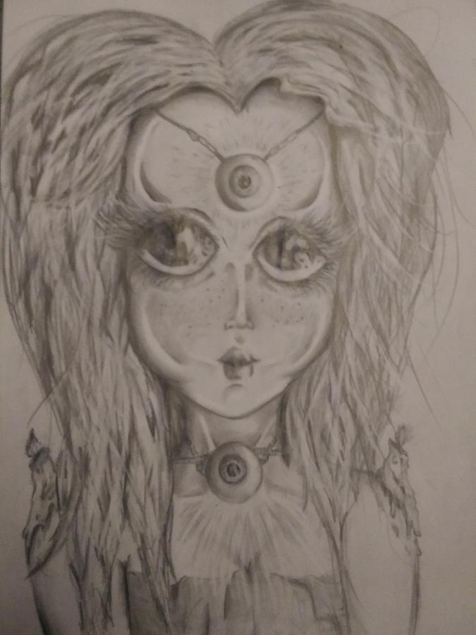 Godess Drawing - Freya by Jonathan Peterson