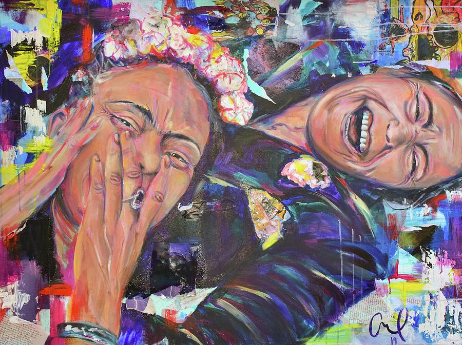 Frida Painting - Frida Kahlo and Chavela Vargas by Christina Carmel
