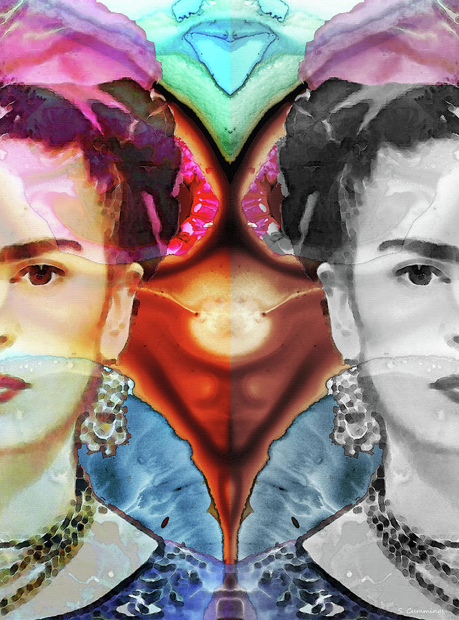 Frida Kahlo Painting - Frida Kahlo Art - Seeing Color by Sharon Cummings