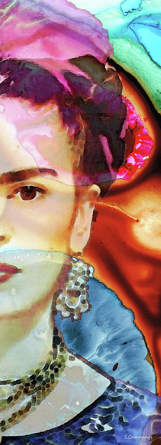 Frida Kahlo Painting - Frida Kahlo Colorful Art - Seeing In Color - Sharon Cummings by Sharon Cummings