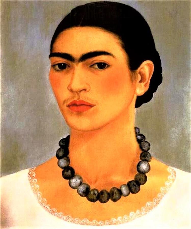 Frida Kahlo  Self Portrait Painting
