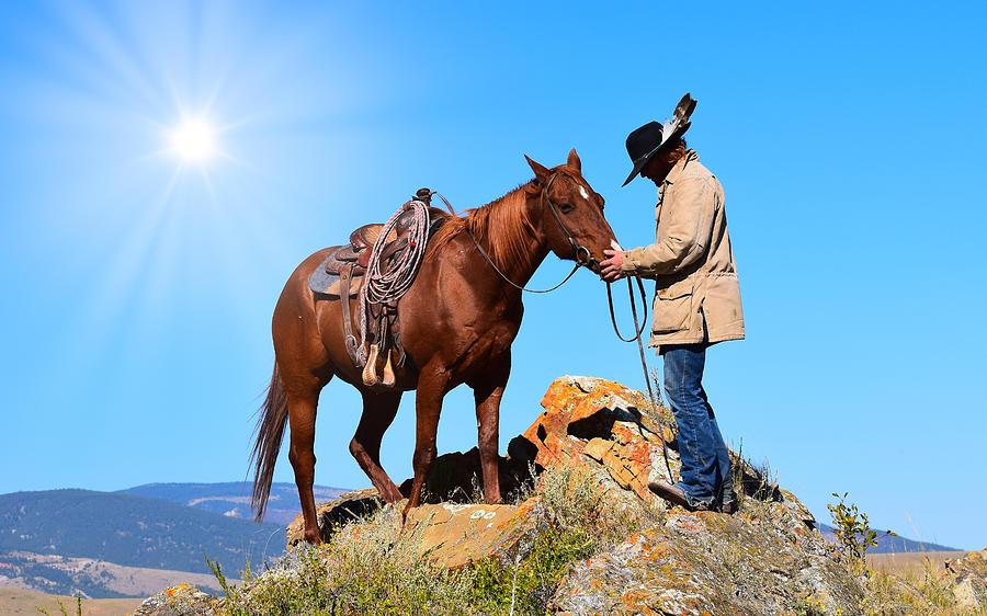 Cowboy Photograph - Friends by Cindy Keen