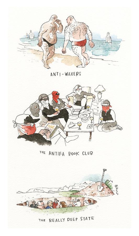 Fringe Groups Painting by Barry Blitt