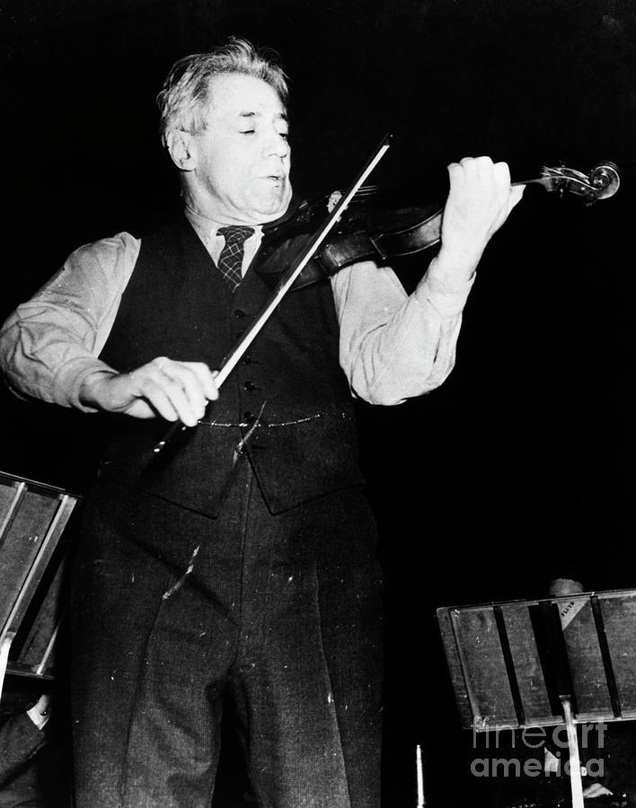 Fritz Kreisler and Violin by Granger