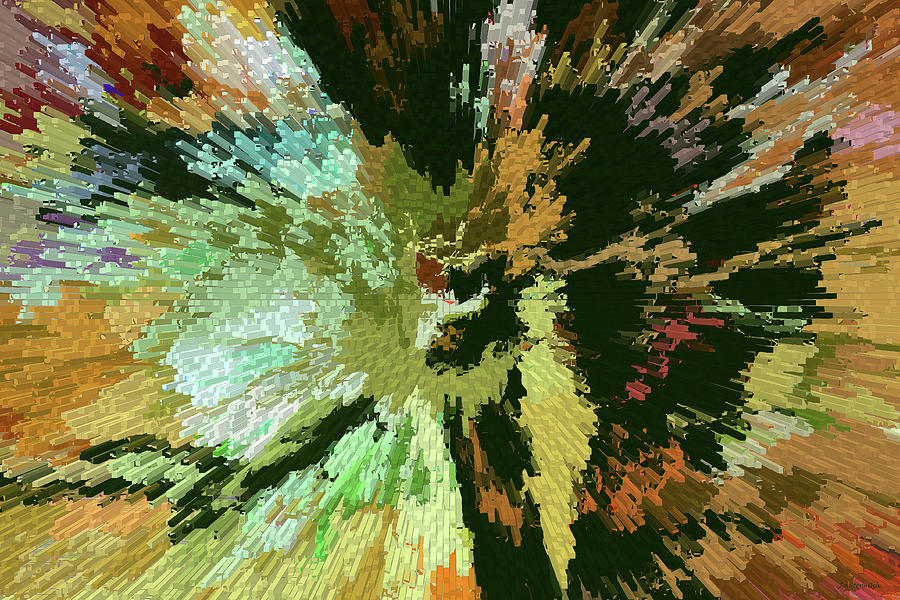 Explosion Digital Art - From The Black Hole by John Lautermilch