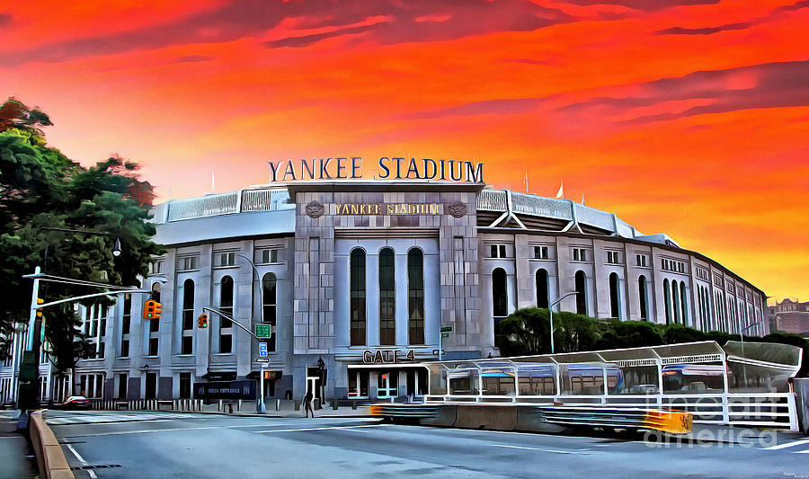 Front Gate Of Yankee Stadium At Sunset Photograph