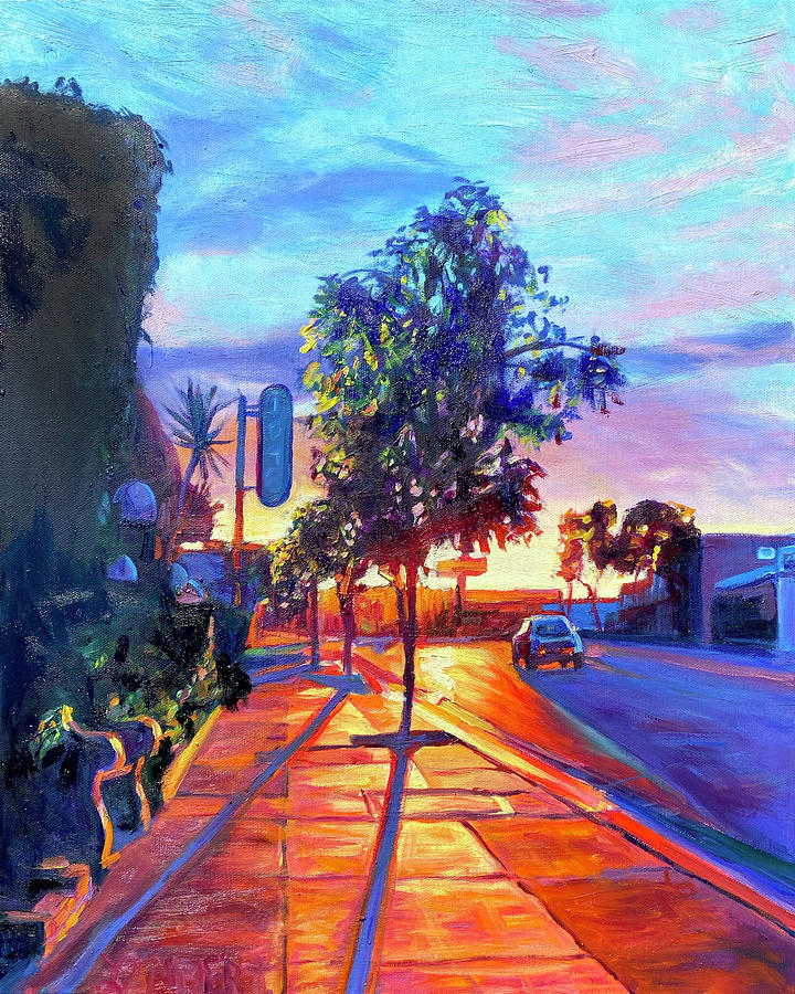 Sunset Painting - Front Row Seat by Bonnie Lambert