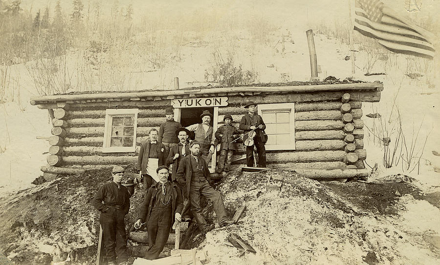 Vintage Photograph - Frontier In The Yukon by Joseph Oland