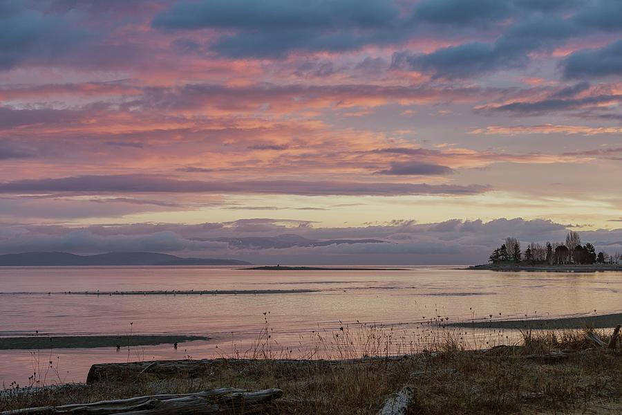 Frosty Morning On Parksville Bay Photograph