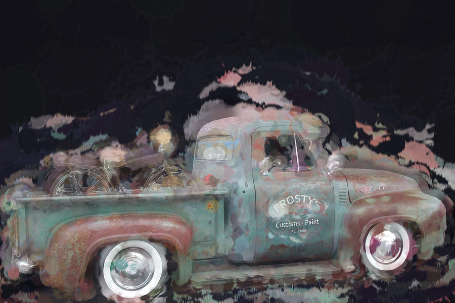 Frostys Old Truck Painted  by Cathy Anderson