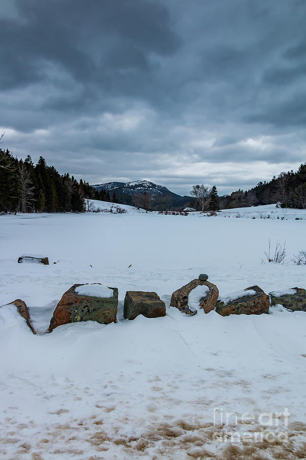 Frozen Little Long Pond by Elizabeth Dow