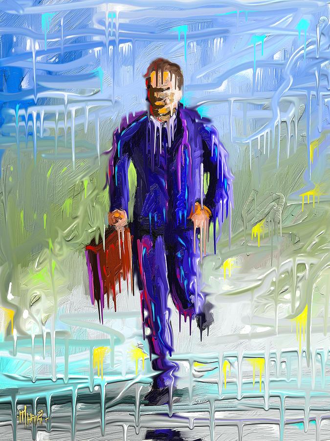 Frozen Man Painting