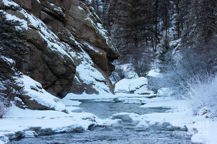 Frozen Platte River And Cliffs Photograph