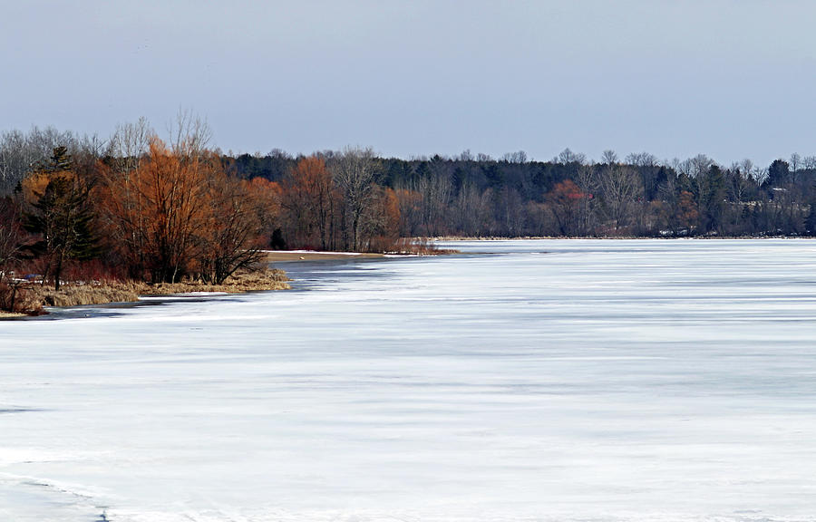 Frozen Snow Covered Lake I Photograph