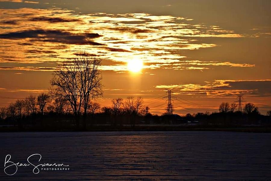 Frozen Sunset Photograph By Beau Swanson