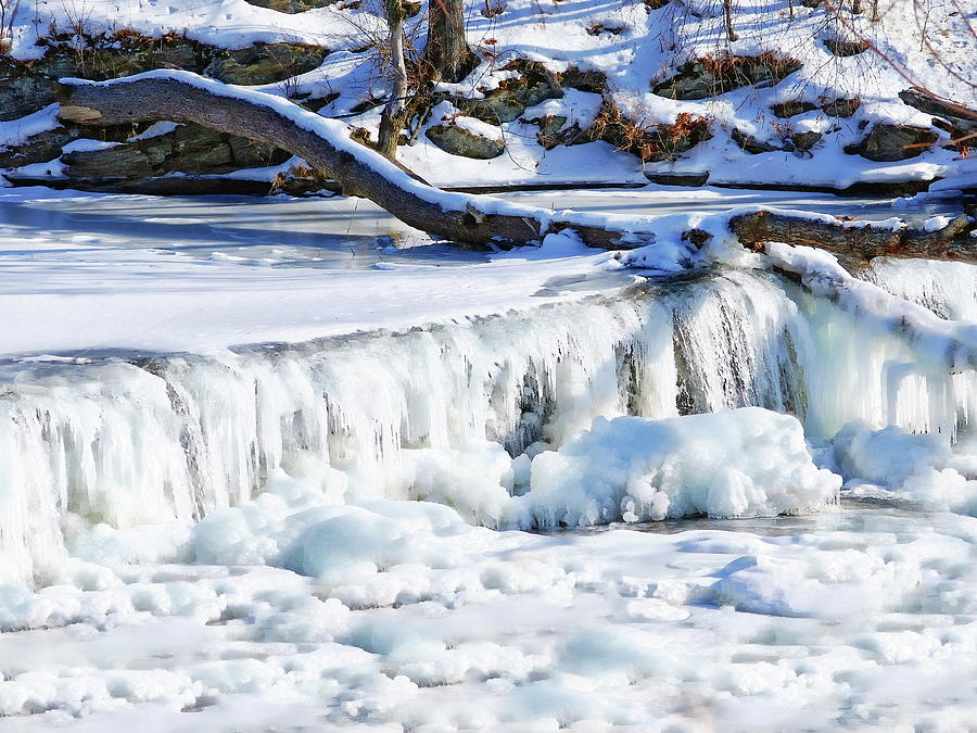 Frozen Waterfall Photograph