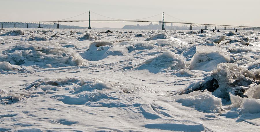 Frozen Waves of the St Lawrence river by Lieve Snellings