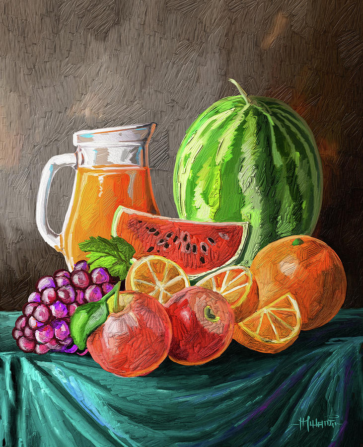 Fruit And Juice Painting