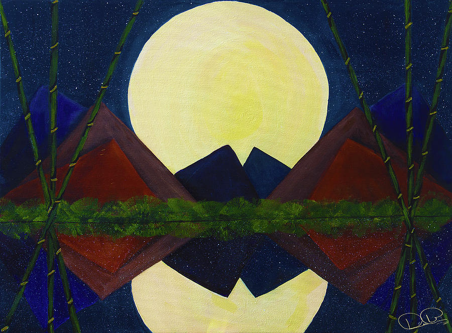 Full Moon Rising Over Still Waters by Dee Browning