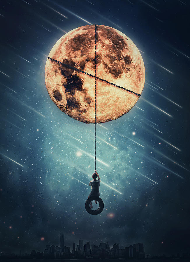 Full Moon Swing Digital Art