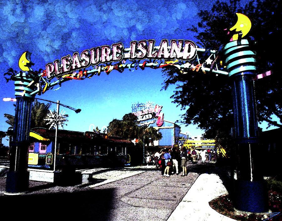 Fun Day At Pleasure Island Painting