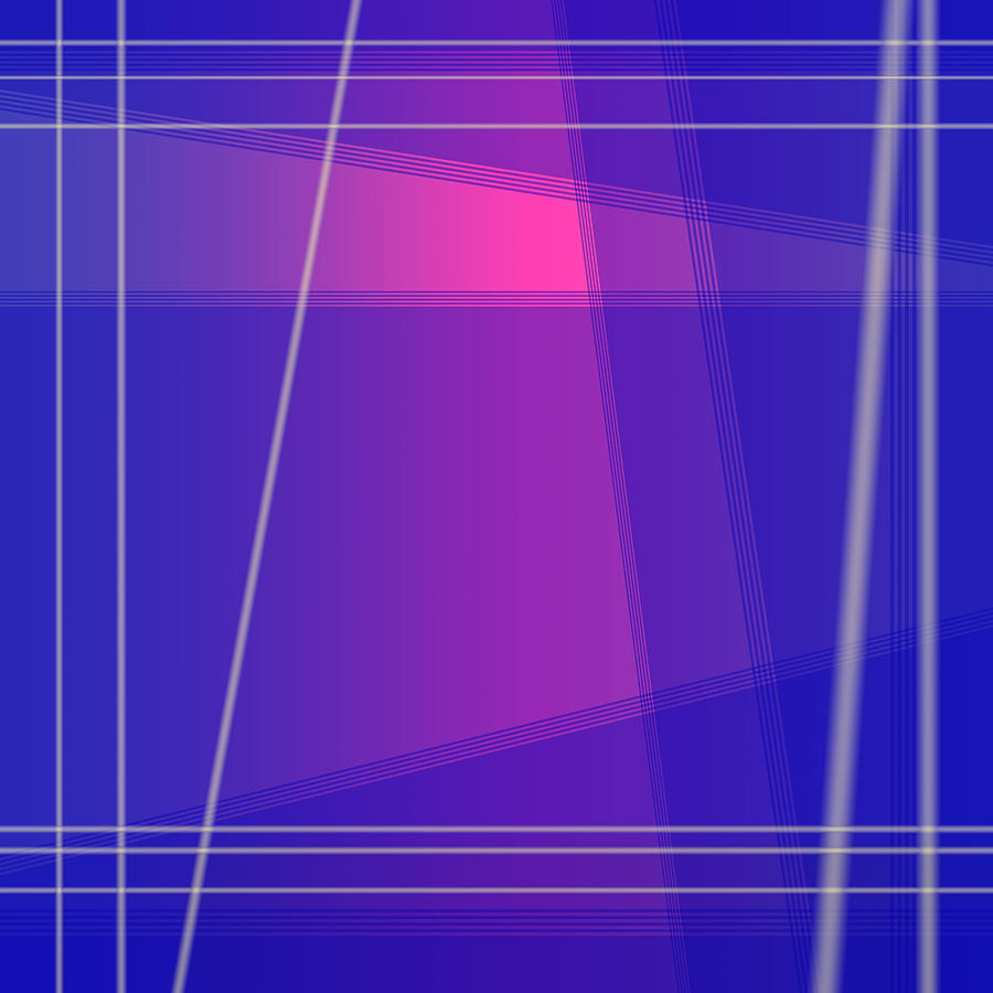 Fun with Colors Abstract Crossing Lines 1 by Jenny Rainbow