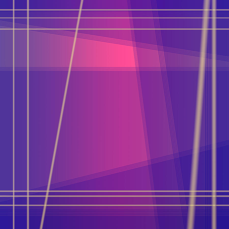 Fun with Colors Abstract Crossing Lines 2 by Jenny Rainbow