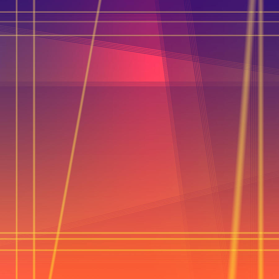 Fun with Colors Abstract Crossing Lines 4 by Jenny Rainbow