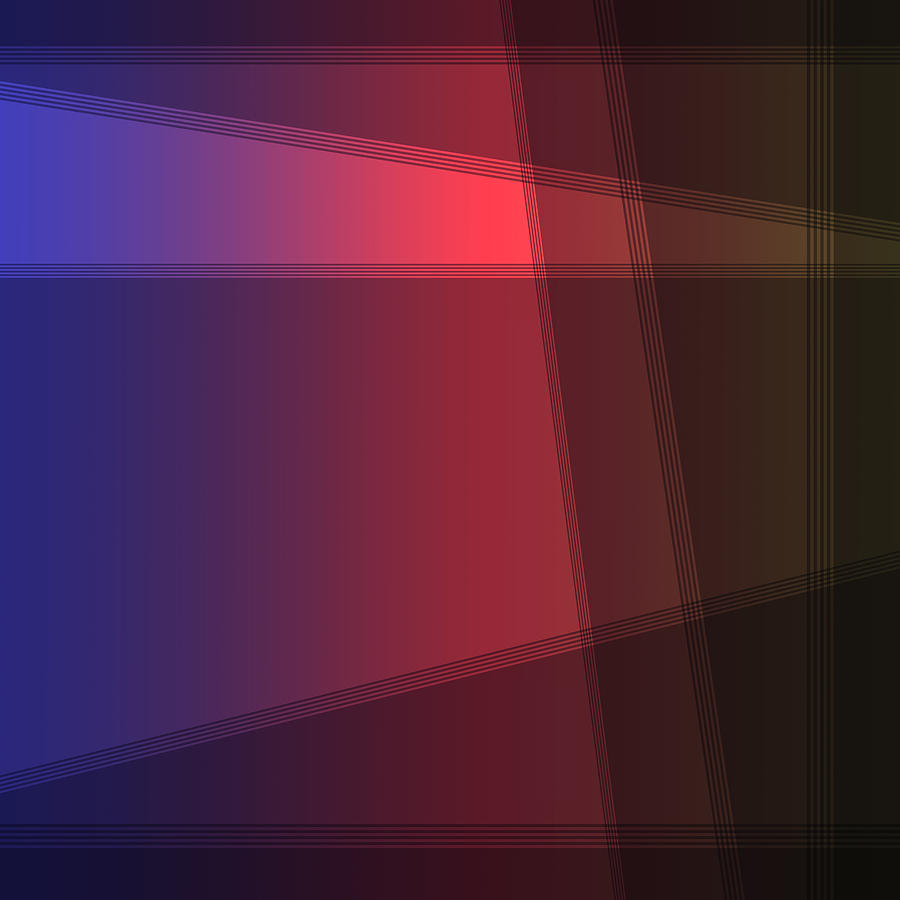 Fun with Colors Abstract Crossing Lines  by Jenny Rainbow