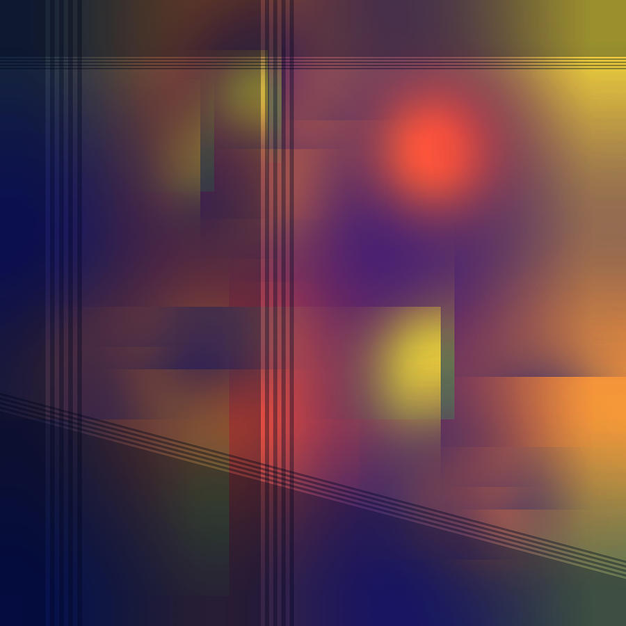 Fun with Colors Blue Hour Abstract by Jenny Rainbow