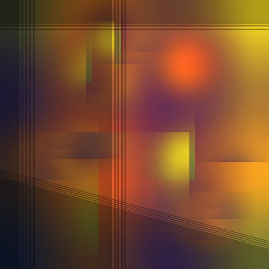 Fun with Colors City Shadows Abstract by Jenny Rainbow