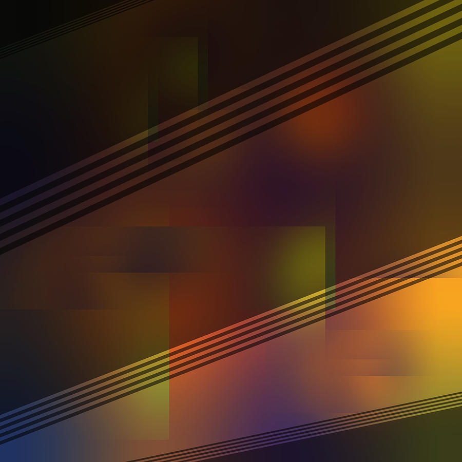 Fun with Colors Night Curtains Abstract by Jenny Rainbow