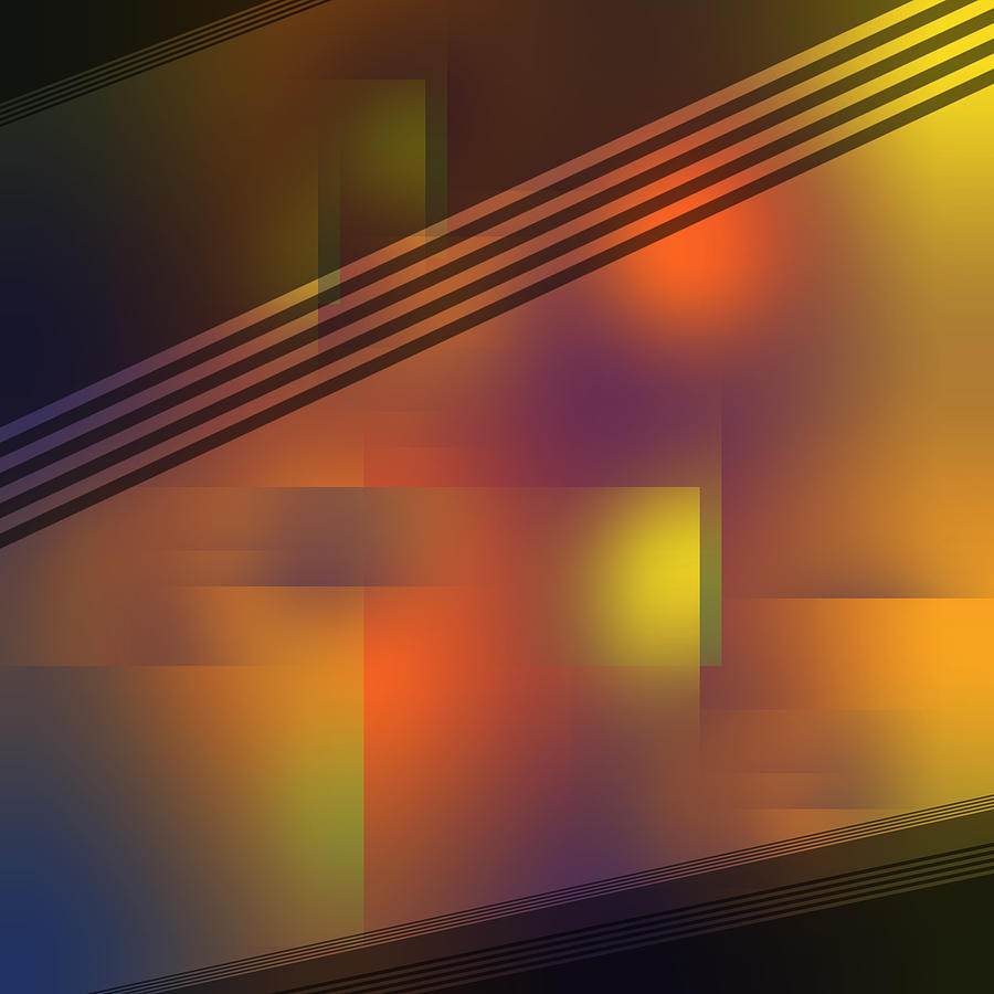 Fun with Colors Open Night Curtains Abstract by Jenny Rainbow