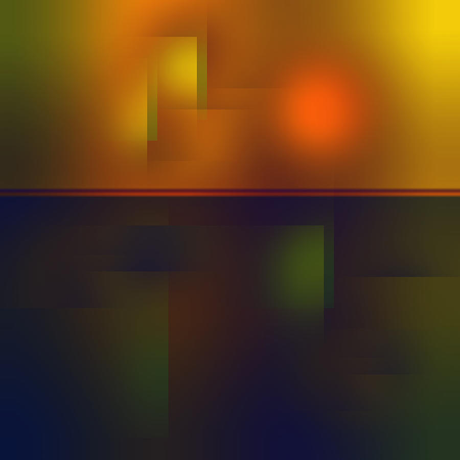 Fun with Colors Sunrise in City Abstract by Jenny Rainbow