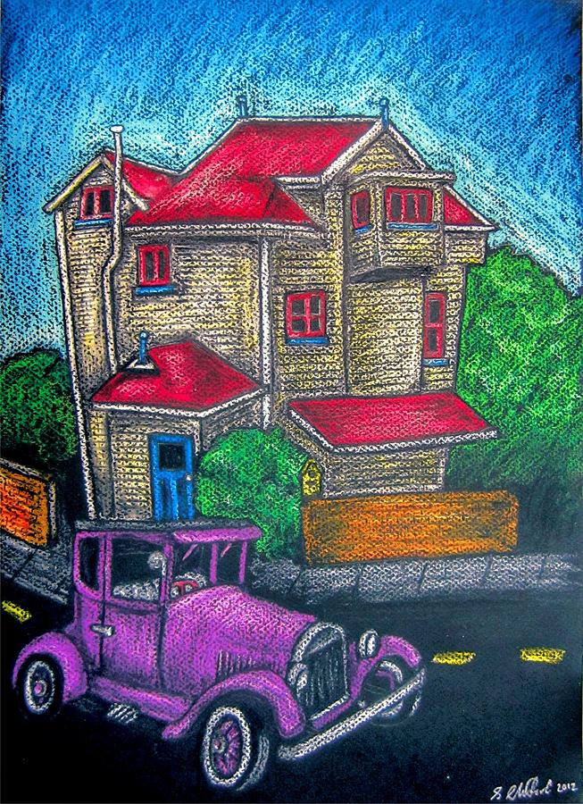 Funky Wellington House Drawing