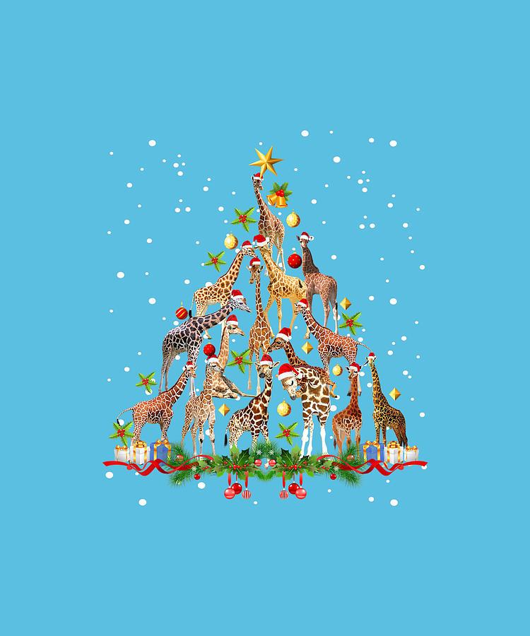 Ceramic Mug Funny Giraffe Christmas Tree Ornament Decor Gift Cute Tee Funny